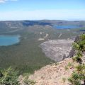 Newberry crater lakes and obsidian flow, from Paulina Peak