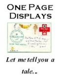 One page displays - short stories about a stamp (or stamps) or a cover.
